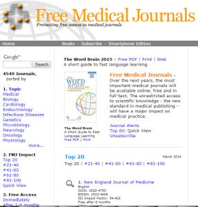 EdSite - Links to Free Medical Journals1