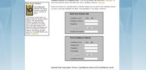 EdSite - Sample Size Calculator (Creative Research Systems)